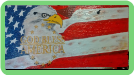 HAND PAINTED SLATE - GOD BLESS AMERICA
