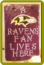 HAND PAINTED SLATE - BALTIMORE RAVENS