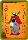 HAND PAINTED SLATE - WELCOME FRIENDS