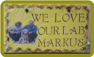 HAND PAINTED SLATE - LOVE PETS
